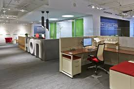 colorful office decor. Compact Showroom Office Design Ideas With Spacious Layout : Exciting Decor Colorful R