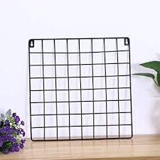 Buy <b>WINOMO</b> Hanging Photo Frame <b>Metal</b> Wall Mesh Grid Bedroom ...