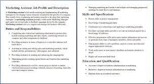 Marketing Assistant Job Description Marketing Coordinator Job