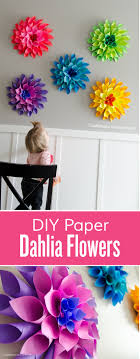 Dahlia Flower Making With Paper Craftaholics Anonymous Rainbow Paper Dahlia Flowers