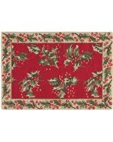 charlton home armentrout holly christmas wool red area rug chrl6899 christmas area rugs s61