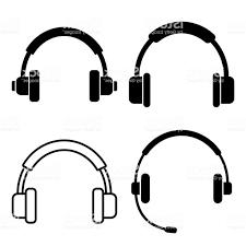 Blue Headphone Vector Art Cqrecords