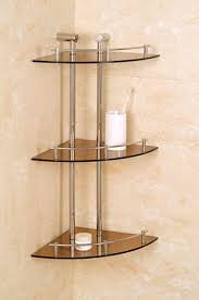 Best Tips to Choosing Bathroom Shelving Units for Your Bathroom : Charming  Glass Corner Shelves With