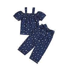 Amazon Com Baby Toddler Girls Summer Outfits Clothes 1 5