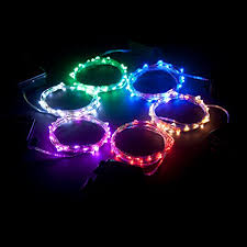 rtgs micro led 30 super bright cold white color indoor and outdoor string lights battery operated