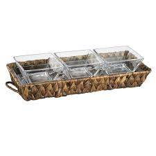Artland Garden Terrace 3 Sectional Server 1-Glass Tray 12.25