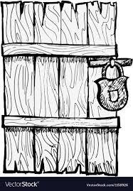 old door vector image