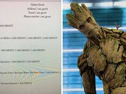 Where To Get A Resume Made This Student Made A Resume For Groot And Its Honestly Hilarious