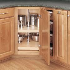 Kitchen Lazy Susan Cabinet Rev A Shelf 26 In H X 31 In W X 31 In D Wood 2 Shelf D Shape