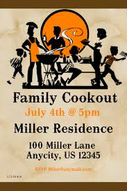 Family Cookout Flyer Template Postermywall