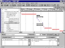 Технологии управления проектами в microsoft project Реферат Пример экрана программы microsoft project