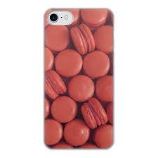 """Чехол для iPhone 7, объёмная печать """"<b>Пирожные макаронс</b> ..."""