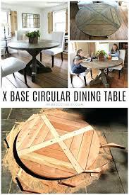 diy x base circular dining table allstar woodworking diy build x base dining table diy diy