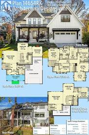 plan 14654rk modern farmhouse with optional finished lower level in regard to open floor plans design 1