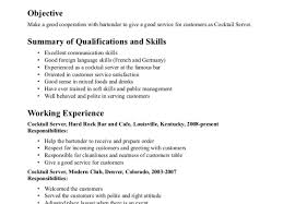 Waiter Resume Sample Waitress Resume Sample Skills Waiter Experienced Examples Samples 91