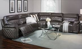 leather reclining sectional. Plain Leather Picture Of Quilted Italian Leather Power Reclining Sectional To D