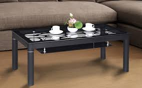 royaloak euro coffee table with tempered glass top