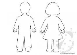 Sagome Di Bambini Da Ritagliare Lavoretti Creativi