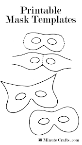 Printable Mask Templates halloween masks printable template,masks free download card designs on certificate of ordination template