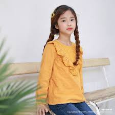 NeuSud Kids 2-018 <b>New Autumn</b> Girls T-shirt Fashion Long-sleeved ...