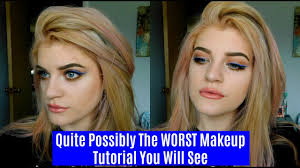 most likely the worst makeup tutorial ever kenzie brooke