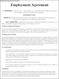 Company Loan To Employee Agreement Printable Sample Employment Contract Form Staff Template