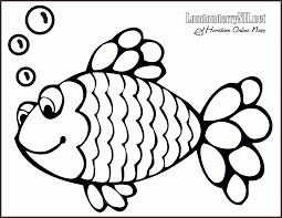 Rainbow Fish Coloring Page Free Large Images Coloring Home