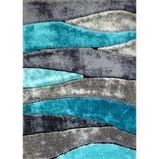 decoration 5 x 7 medium gray and teal area rug living black