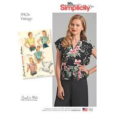 Vintage Simplicity Patterns Awesome Simplicity Pattern 48 Misses' Vintage Poncho Blouses