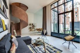 apartments design ideas. Original Industrial Apartment Design Project. Spacious Living Room And The  Huge Panoramic Wall-height Apartments Design Ideas