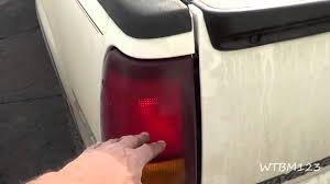 chevy truck tail lights stuck on