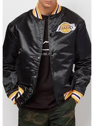 mitchell ness mitchell ness winter jackets with nba satin la lakers