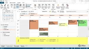 The Office Calendar Microsoft Office 365 Outlook 2013 Calendar Training Youtube