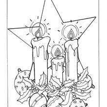 Small Picture Tree balls and candles coloring pages Hellokidscom