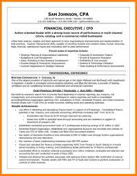 7 Chief Financial Officer Resume Example Letter Adress