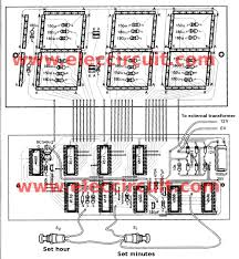big digital clock circuit out microcontroller eleccircuit components layout of jumbo digital clock