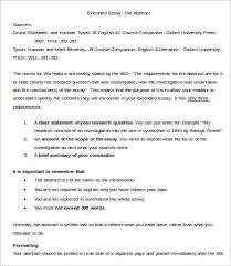brief essay format com brief essay format 18 extended essay template 7 samples examples format