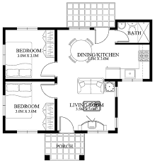 another two bedroom small house with a simple but beautiful design this house model is 61 square meters total floor area that includes the small porch at