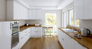 White Kitchens With Wood Floors All White Kitchen Cabinets And Sink Wooden Countertop Solid Island