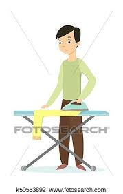 ironing clothes clipart. Wonderful Clothes Clipart  Man Ironing Clothes Fotosearch Search Clip Art Illustration  Murals And Ironing Clothes I