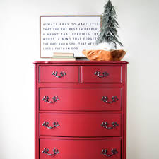 painted red furniture. How To Paint The Perfect Red Dresser! Painted Furniture