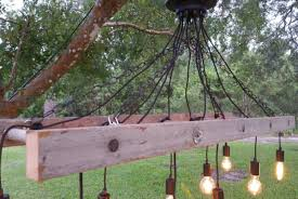 outdoor antique farmhouse ladder chandelier with vintage edison bulbs pendant lighting