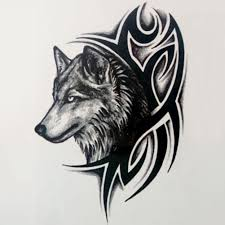 тату наклейки воющий волк рука нога для рук заднее тело на грудь временная