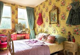 bohemian bedroom home furniture luxurious boho. Bedroom: Colorful Picture On Cute Wallpaper In Bohemian Style Bedroom With Single Bed Side Nice Home Furniture Luxurious Boho P