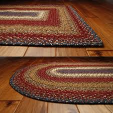 homee decor log cabin step cotton braided rug oval roost and galley