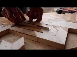 how to make geometric wood wall art