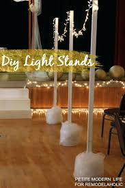 pole to hang outdoor string lights easy light stands for