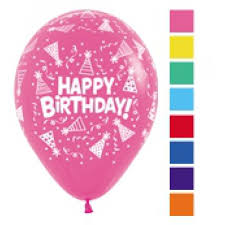 Latex Balloons Printed Happy Birthday Hats And Streamers Assorted