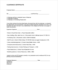 8 Sample Employee Clearance Forms Sample Forms