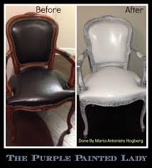 The McKinley Clan: Painted leather dining chairs